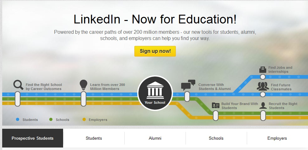 linkedin for education